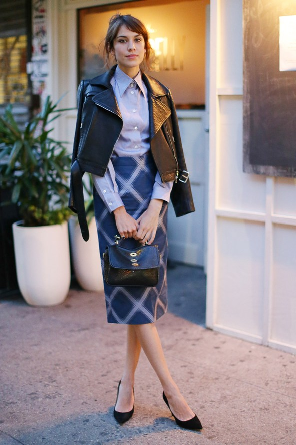Alexa-Chung-Wearing-House-Of-Holland-House-of-Holland-Resort-2014-Collection-Dinner