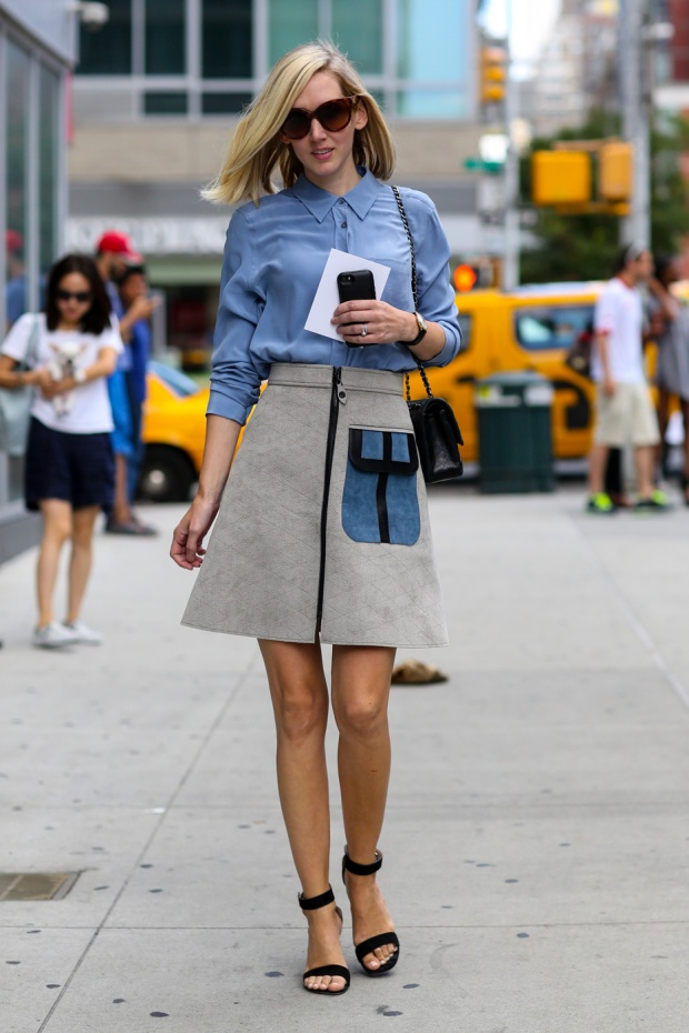 Polish-off--line-skirt-classic-button-down